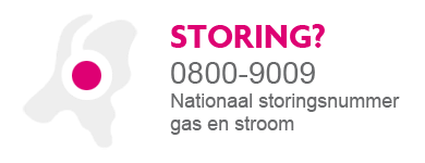 Storing gas of stroom? Bel 0800-9009